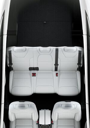 Configuración de 5 asientos