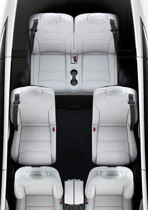 Configuración de 6 asientos