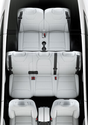 Configuración de 7 asientos